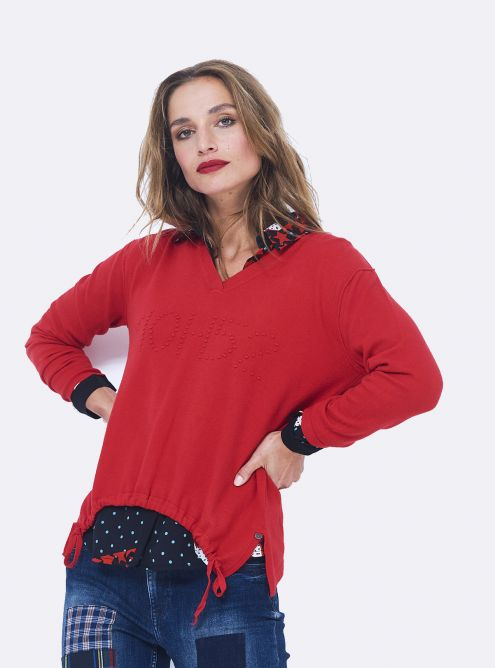 Pull Over 10H52 - Rouge