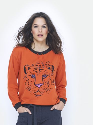 T-Shirt Mon Tiger - Orange