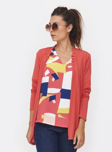 Gilet Good Mood - Corail